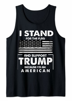 Mango 4th of July American Flag Independence Day Trump Supporter Tank Top
