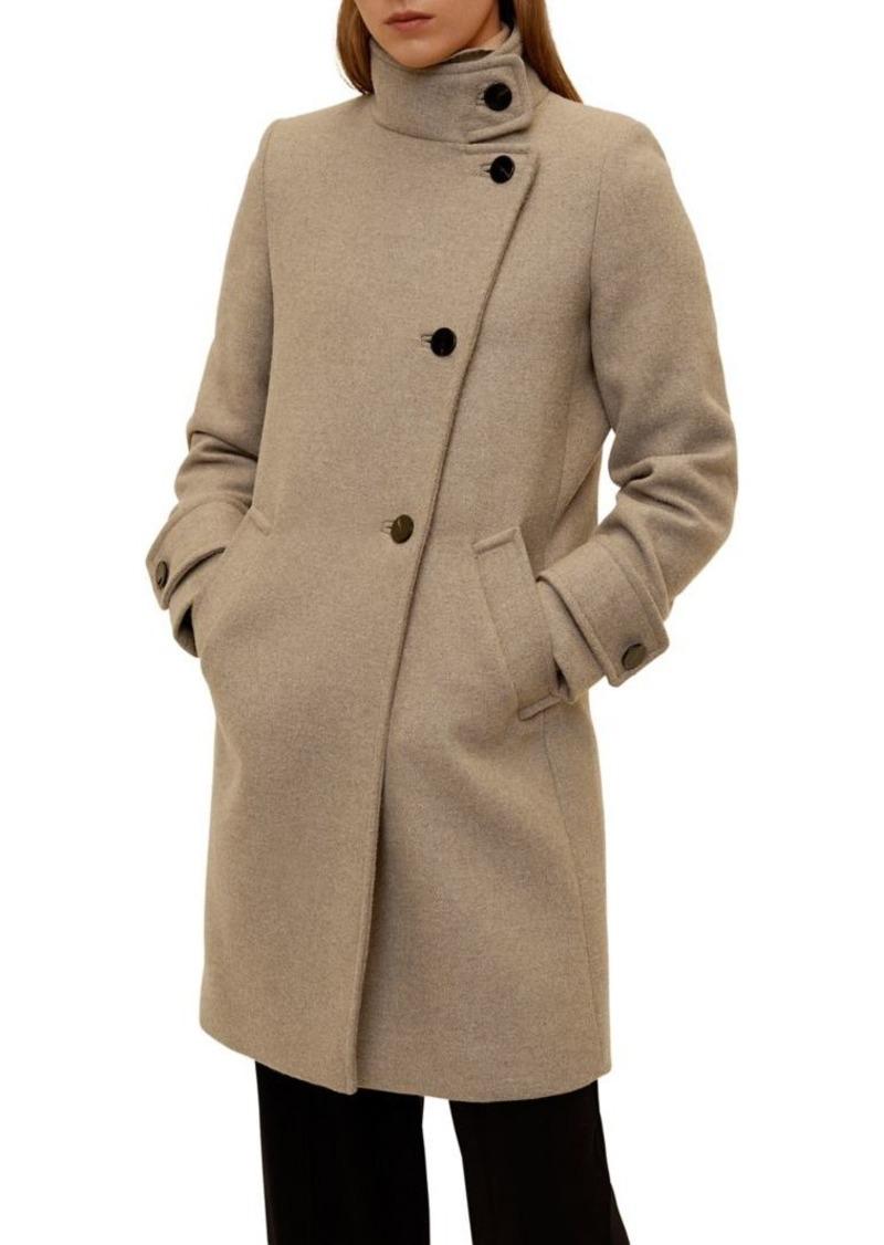 Mango Asymmetrical Button-Front Coat