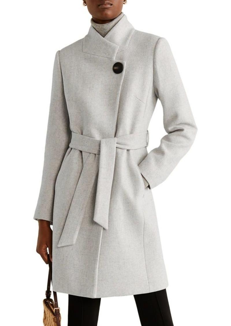 Mango Belted Long Wool Coat