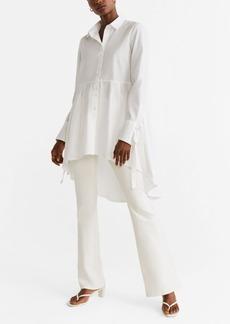 Mango Bow Sleeve Shirt
