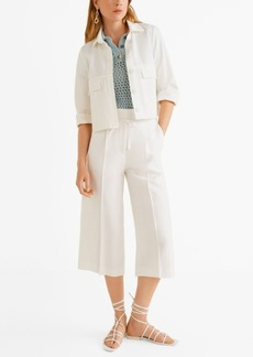 Mango Bow Straight Trousers