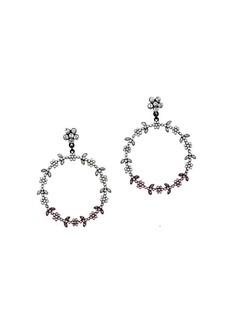 Mango Bruna Faceted Crystal Hoop Earrings