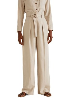 Mango Buckled High-Waisted Trousers