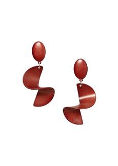 Mango Camden Spiral Drop Earrings