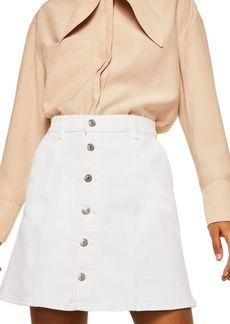 Mango Casual Denim Mini Skirt