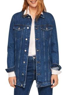 Mango Cazadora Claudia Oversized Denim Jacket