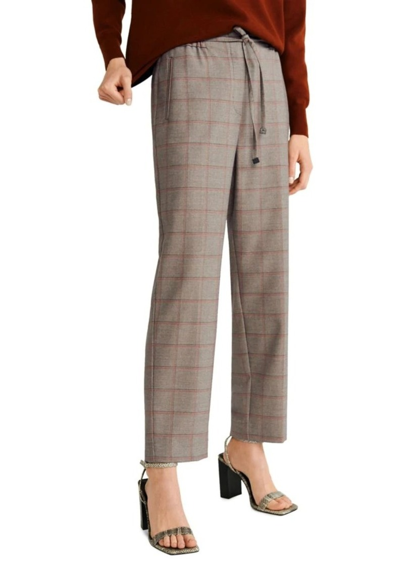 Mango Checkered Drawstring Pants