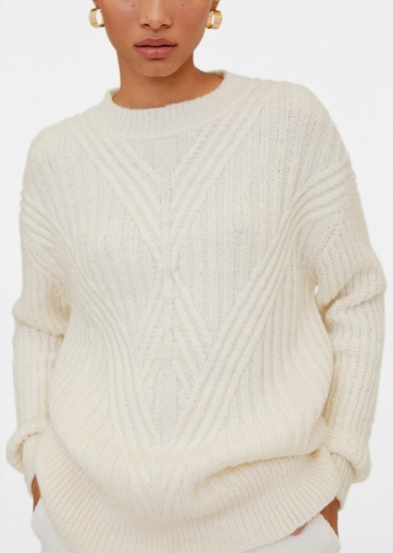 Mango Contrasting Pattern Sweater