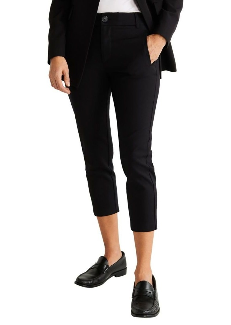 Mango Cropped Cotton-Blend Trousers