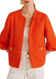 Mango Cropped Tweed Jacket