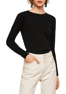 Mango Dranon Textured Dot Sweater
