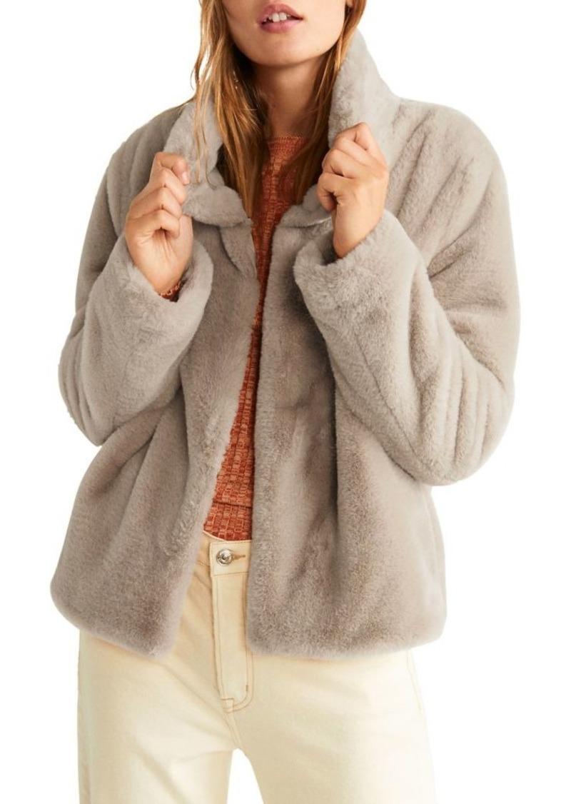 Mango Faux-Fur Jacket