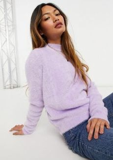Mango fluffy sweater in lilac