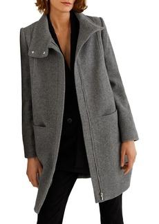 Mango Funnelneck Zip Coat