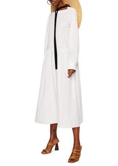 Mango Gina-A Cotton Midi Dress