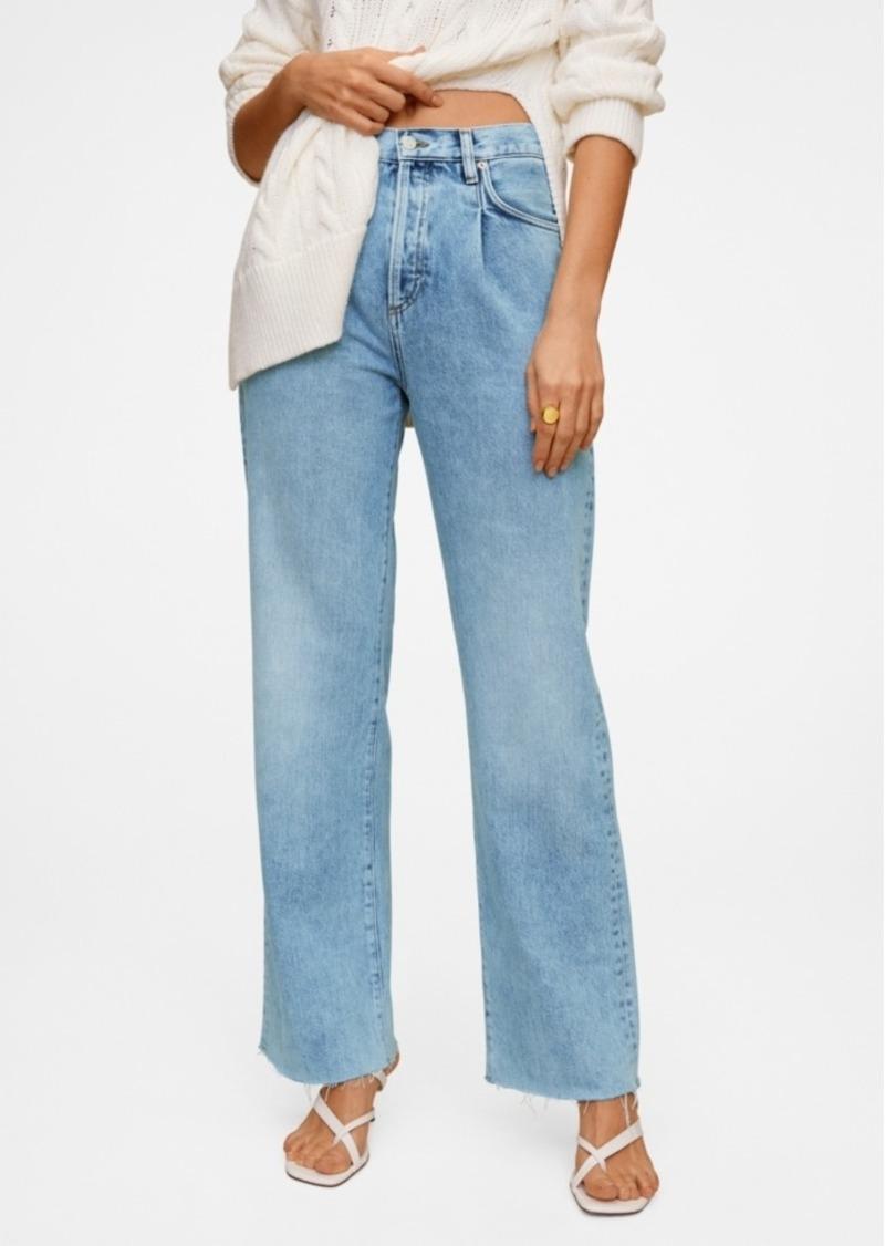 Mango High Waist Darts Jeans