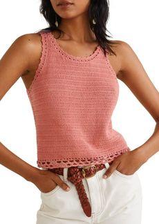 Mango Isla Crocheted Cotton Top