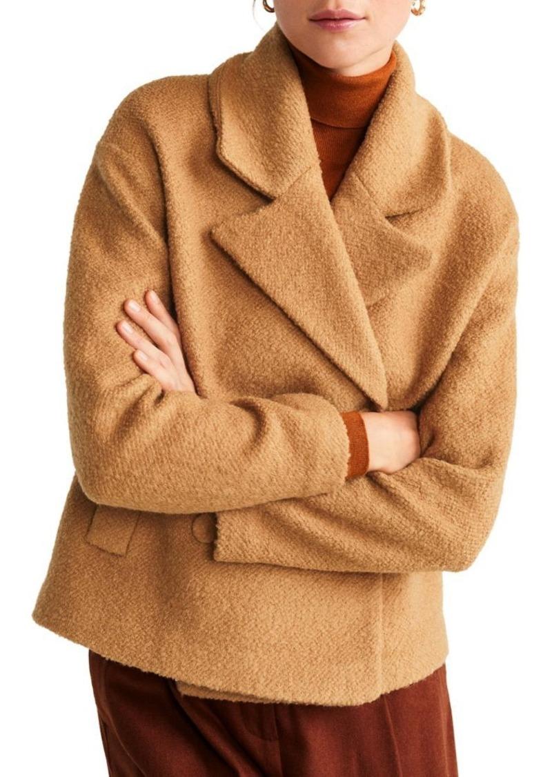 Mango Lapel Wool-Blend Jacket