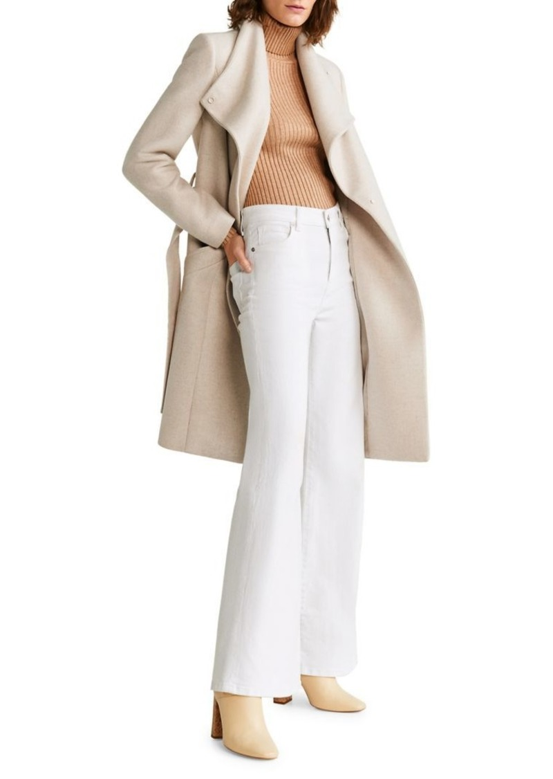 Mango Long Belted Wool-Blend Coat