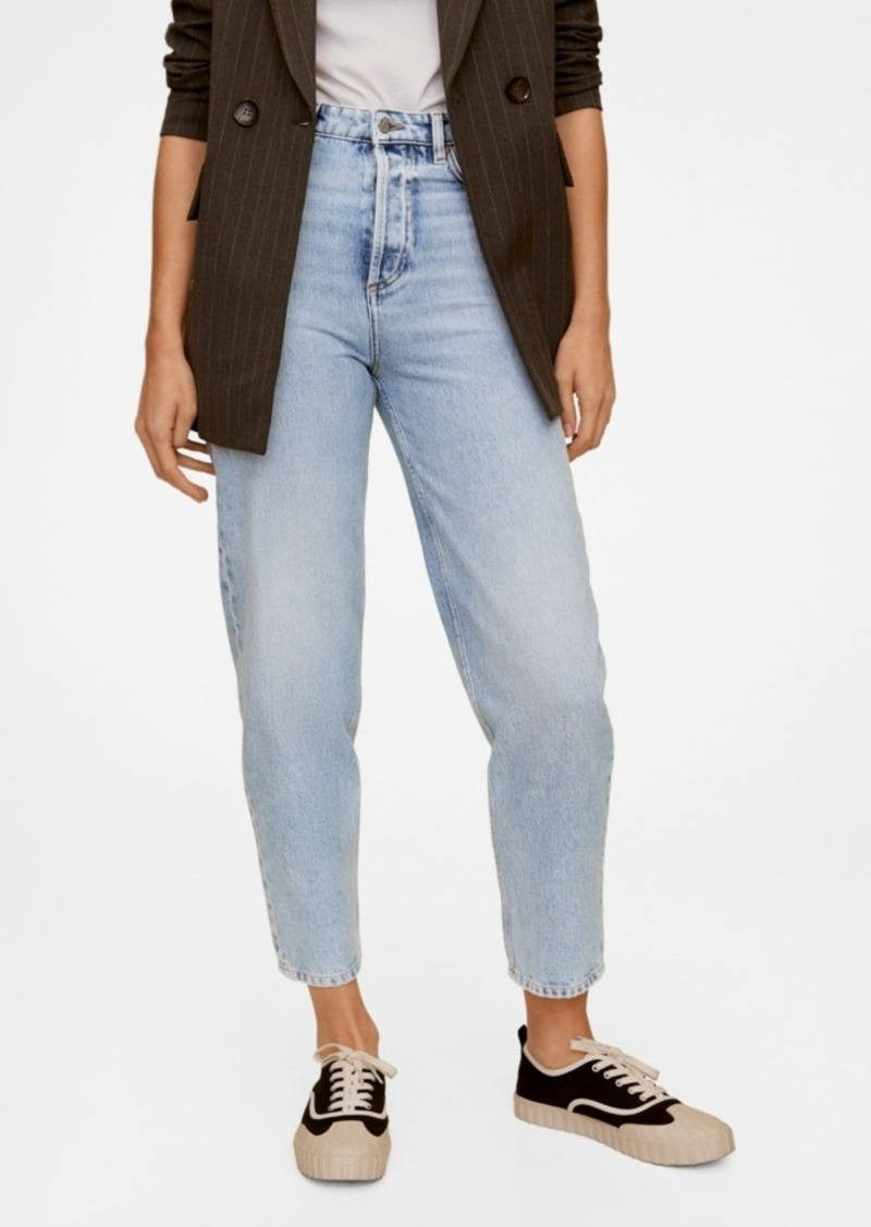 Mango Medium Wash Fit Balloon Jeans