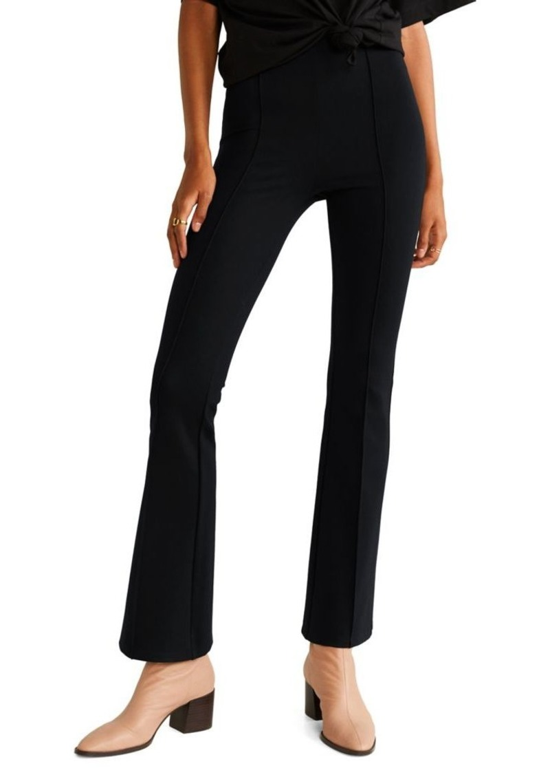 Mango Mid-Rise Flared Pants