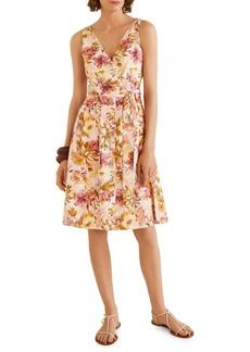 Mango Nature Floral Knee-Length Fit-&-Flare Dress