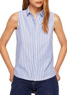 Mango Paula Sleeveless Button-Down Shirt