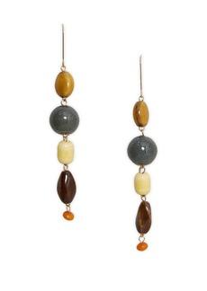 Mango Pendiente Laguna Ceramic Drop Earrings
