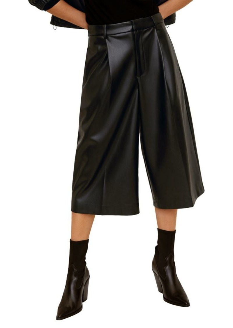 Mango Pleated Wide-Leg Pants