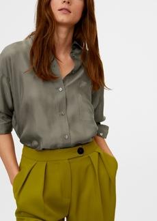 Mango Women's Pocket Cupro Shirt