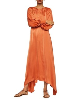 Mango Protea-A Asymmetrical Satin Gown