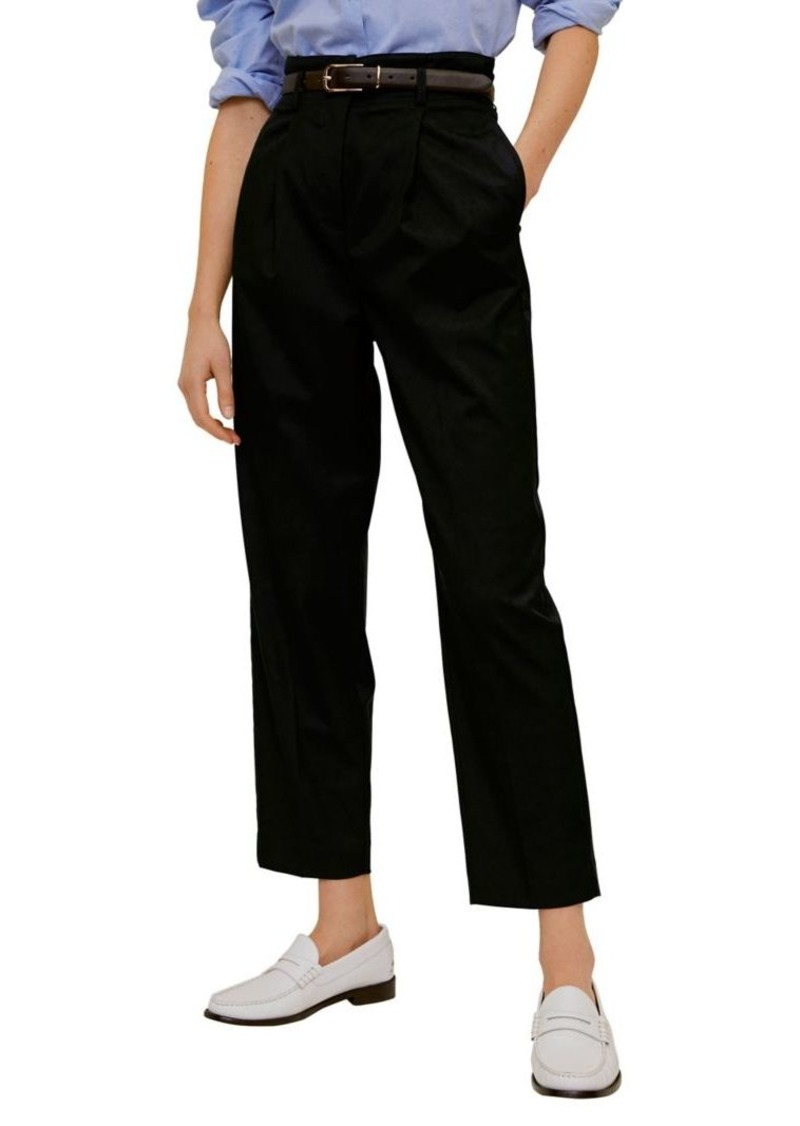 Mango Straight-Fit Pleated Trousers