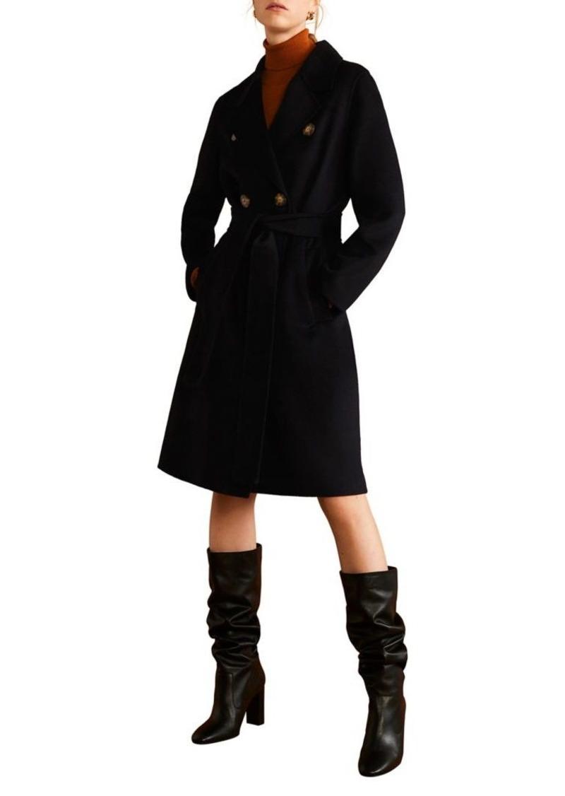 Mango Structured Wool-Blend Coat