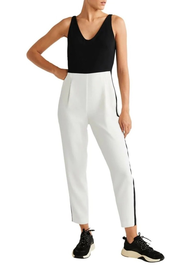 Mango Two-Tone Long Jumpsuit
