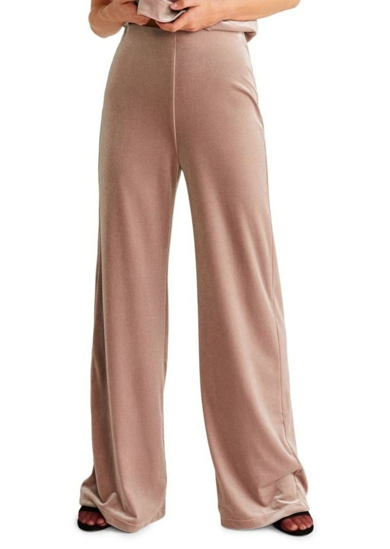Mango Velvet Wide-Leg Pants