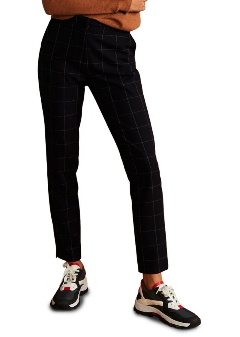 Mango Windowpane Straight-Fit Pants