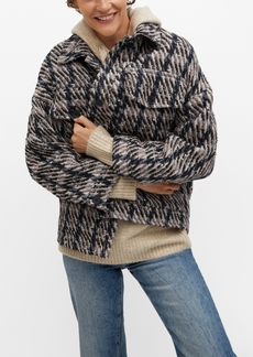 Mango Women's Check Tweed Jacket