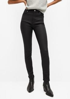 Mango Women's Coated High Waist Skinny Noa Jeans