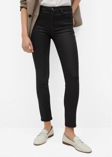 Mango Women's Coated Isa Crop Skinny Jeans