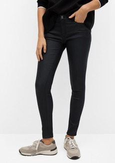 Mango Women's Coated Kim Skinny Push-up Jeans