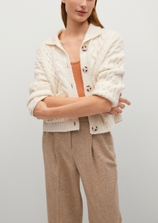 Mango Women's Combined Knitted Cardigan