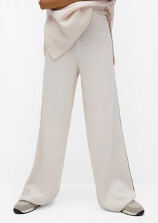 Mango Women's Contrast Seam Pants