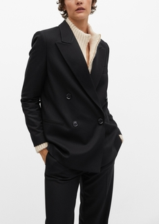 Mango Women's Double-Breasted Structured Blazer