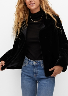 Mango Women's Faux Fur Jacket