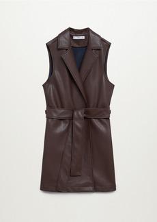 Mango Women's Faux-Leather Gilet
