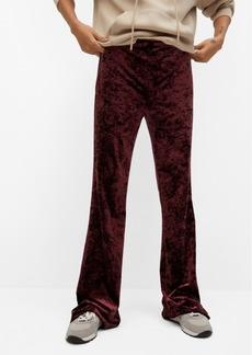 Mango Women's Flared Velvet-Textured Pants