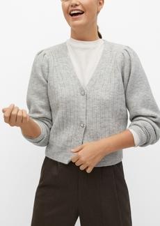 Mango Women's Jewel Button Knit Cardigan