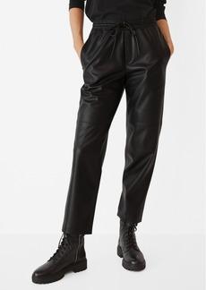 Mango Women's Leather-Effect Elastic Waist Trousers