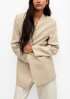 Mango Women's Modal-Blend Suit Blazer