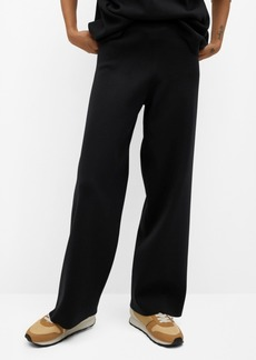 Mango Women's Palazzo Knit Trousers